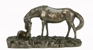 Bronze Horse & Foal