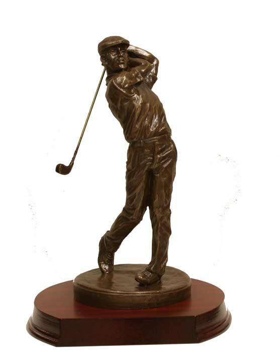 Bronze Male Golf Figure