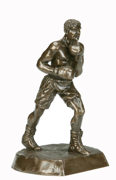 Bronze Boxing Figure