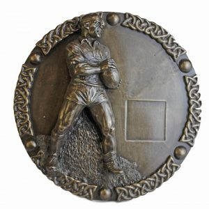 Bronze Rugby Wall Plaque
