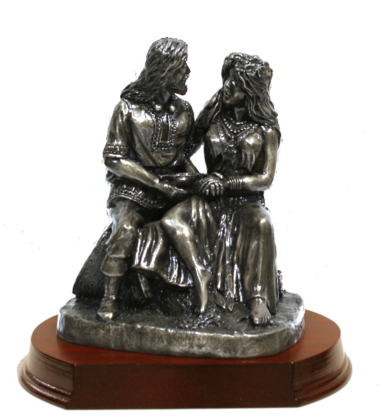 Shop online for Bronze Celtic Wedding Couple, handmade in Ireland by Druidcraft, a Cork based manufacturer of bronze products.