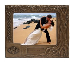 Shop online for bronze wedding picture frames handmade in Ireland by Druidcraft, a Cork based manufacturer of bronze products.