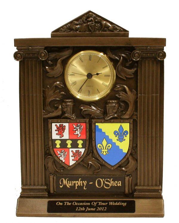 Bronze Heraldic Clock