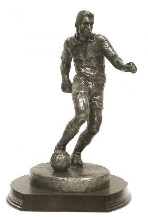 Bronze Soccer Figure