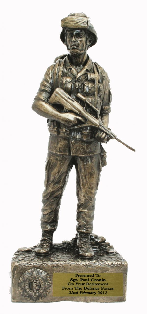 Bronze Irish Defence Forces Figure