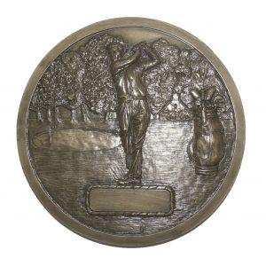 Bronze Golf Wall Plaque