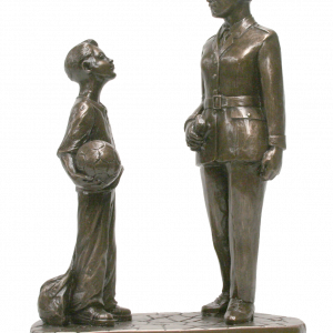 Bronze Female Garda and Boy